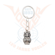 Owl, key chain silver plated