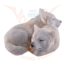 pair of white wolve puppies