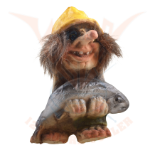 Troll with fish, magnet